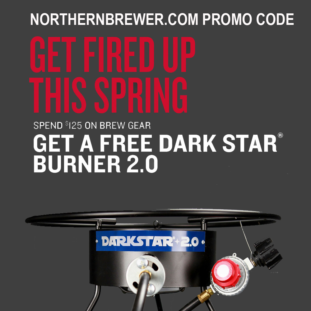 Get A Free Homebrewing Burner On Orders Over $125 Coupon Code
