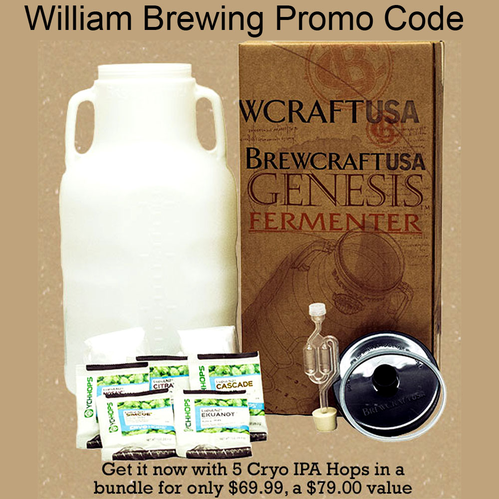 Save $10 On A Genesis Fermenter and Cryo Hop Bundle Coupon Code