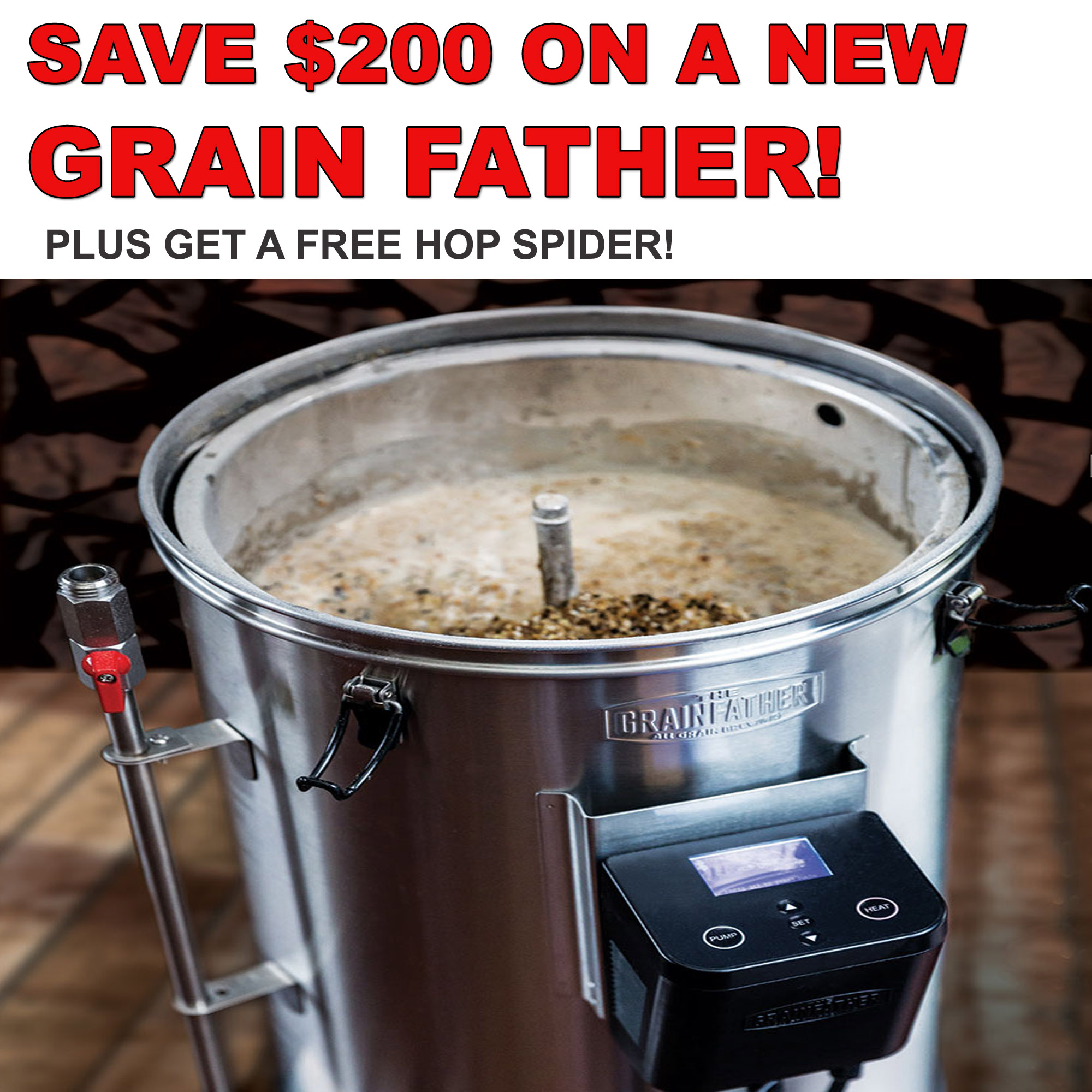 Save $200 On A GrainFather Home Brewing System Plus Get A FREE Hop Spider Coupon Code