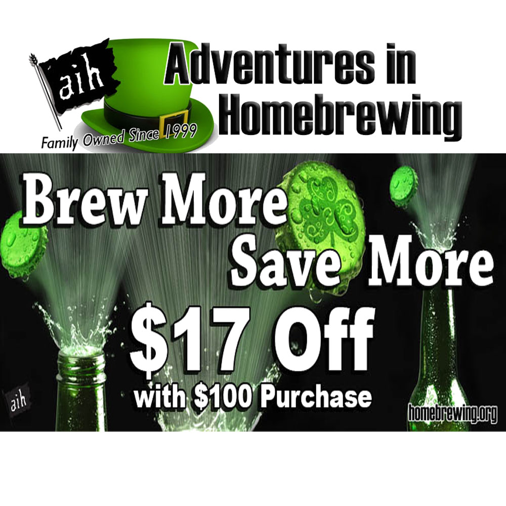 Save $17 On A $100 Purchase at Homebrewing.org Sale