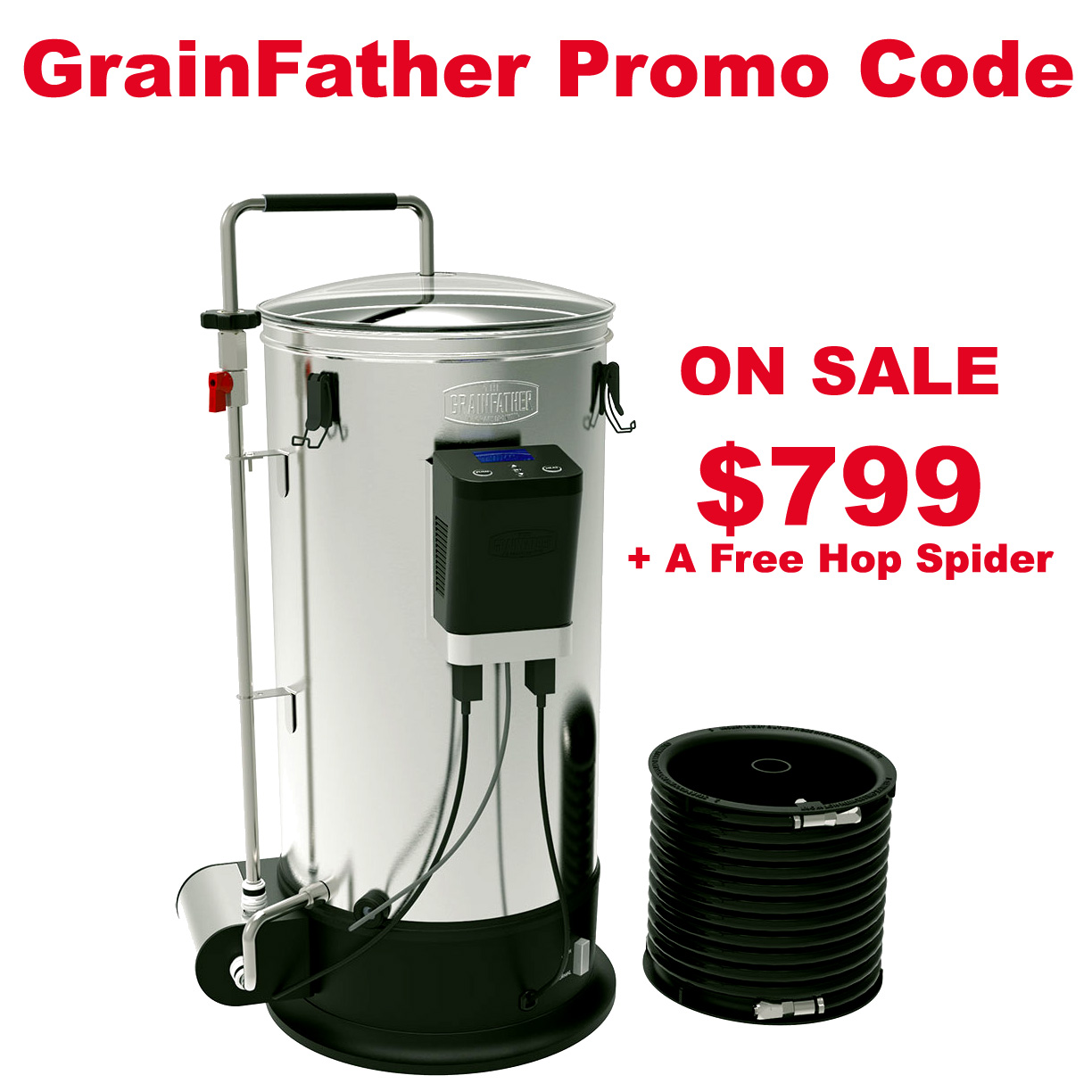 Get a New GrainFather Connect for Just $799 + A Free Hop Spider Coupon Code