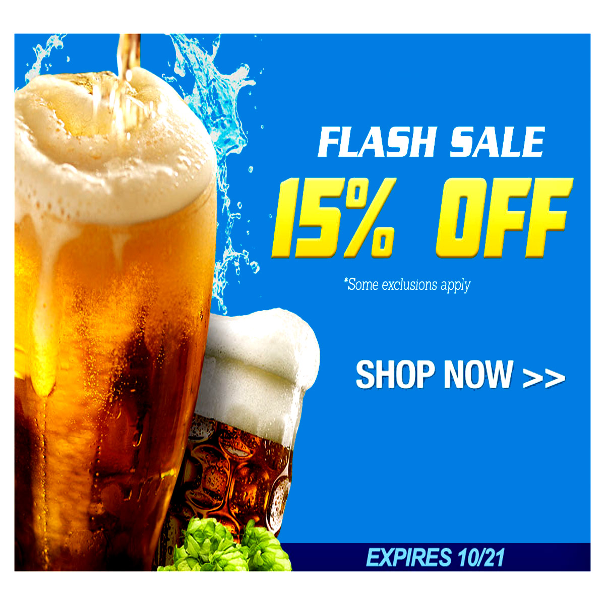 Homebrew Flash Sale - Save 15% Coupon Code