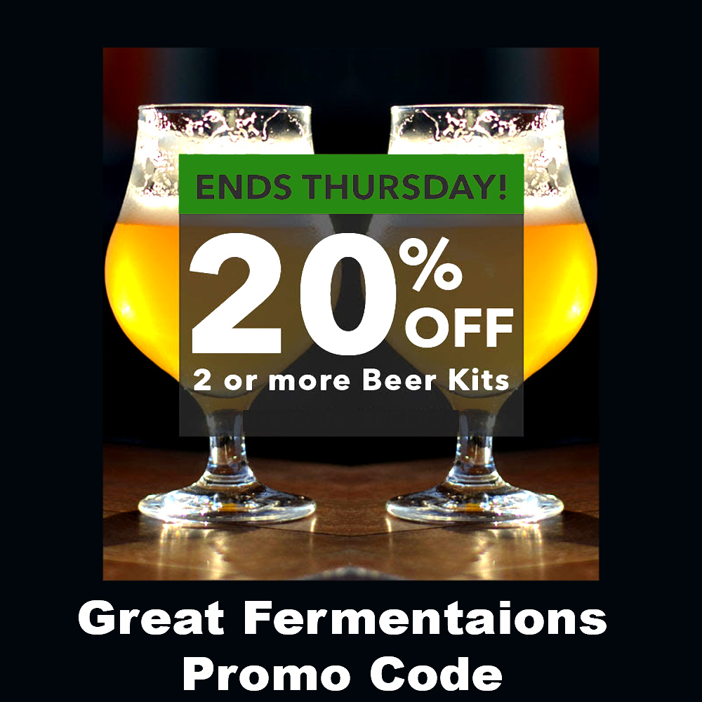 Buy 2 Or More Beer Kits And Save 20% Coupon Code