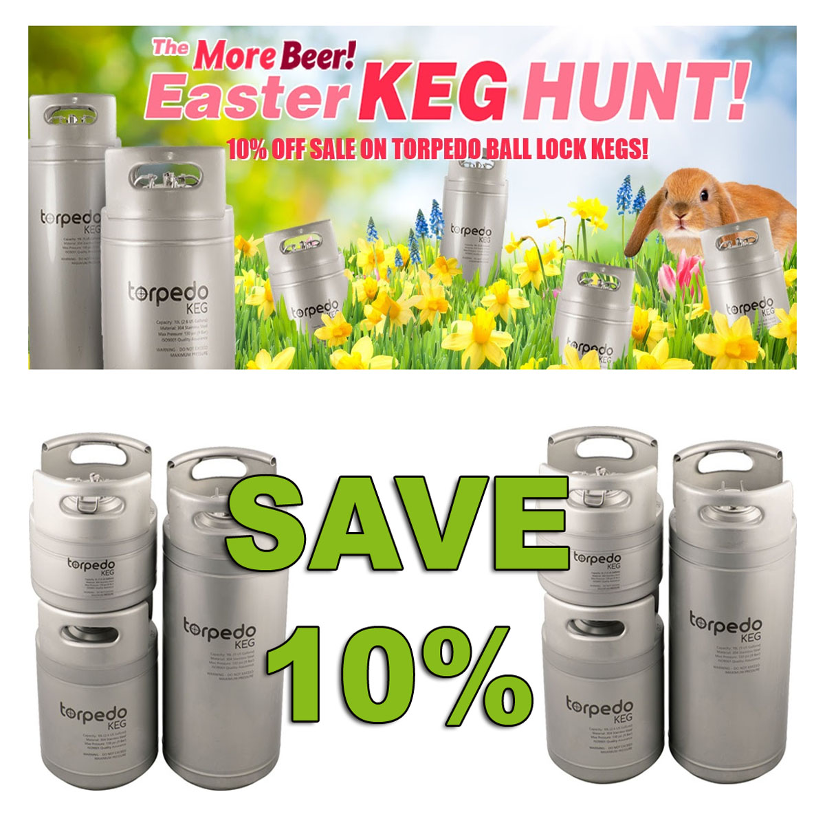 Save 10% On Torpedo Kegs with this More Beer Coupon Code Coupon Code