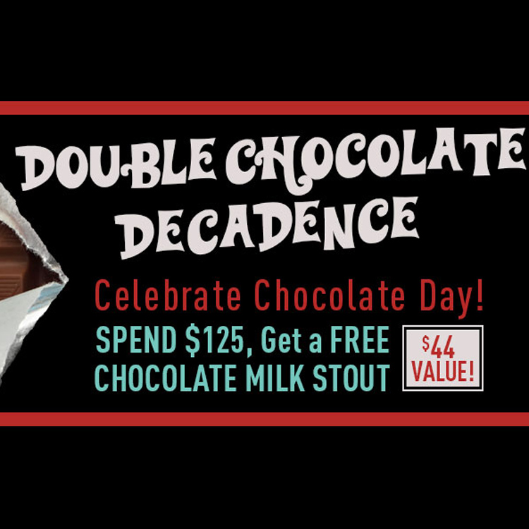Free Chocolate Milk Stout With Orders Over $125 Coupon Code