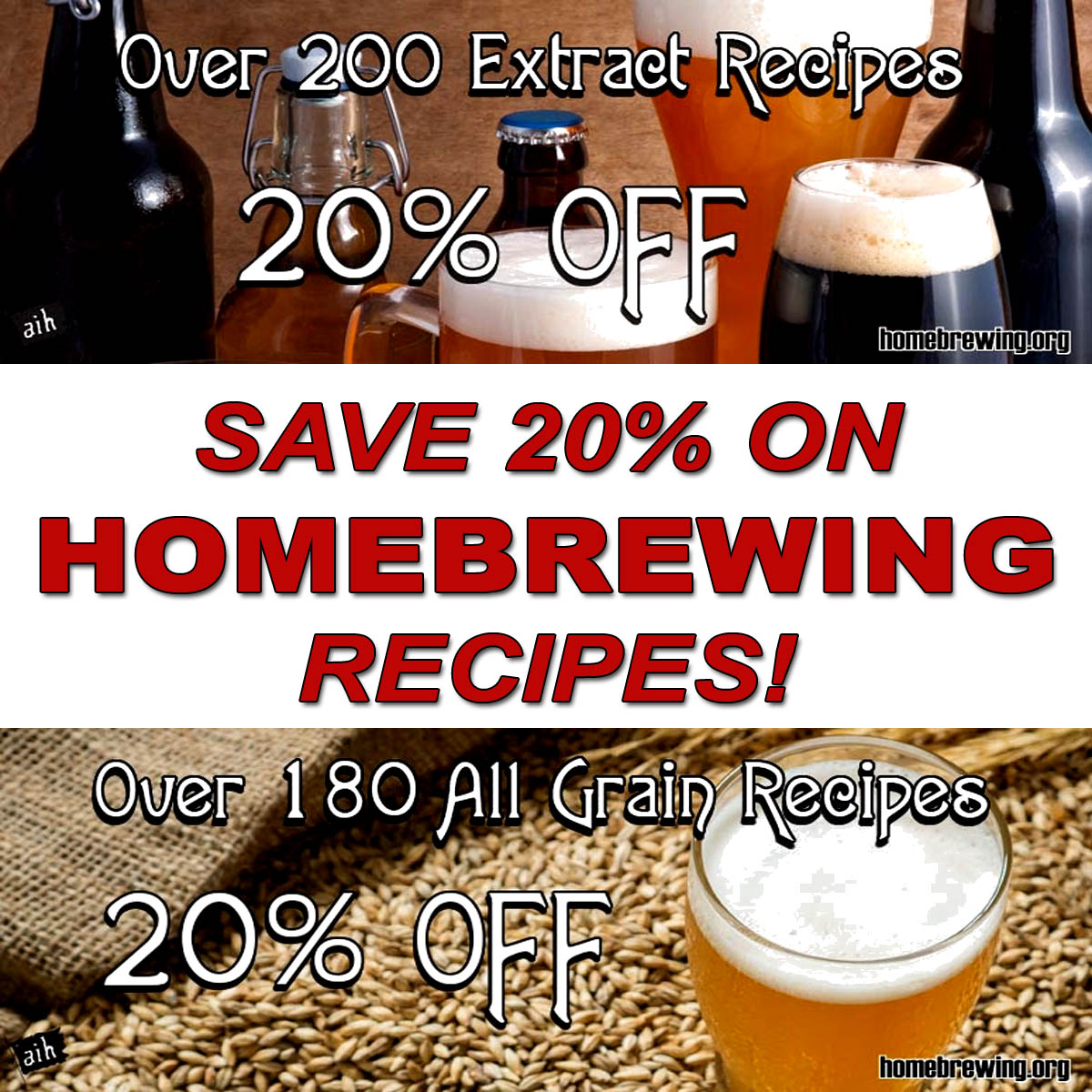 Save 20% On All Grain and Extract Homebrewing Recipes Sale