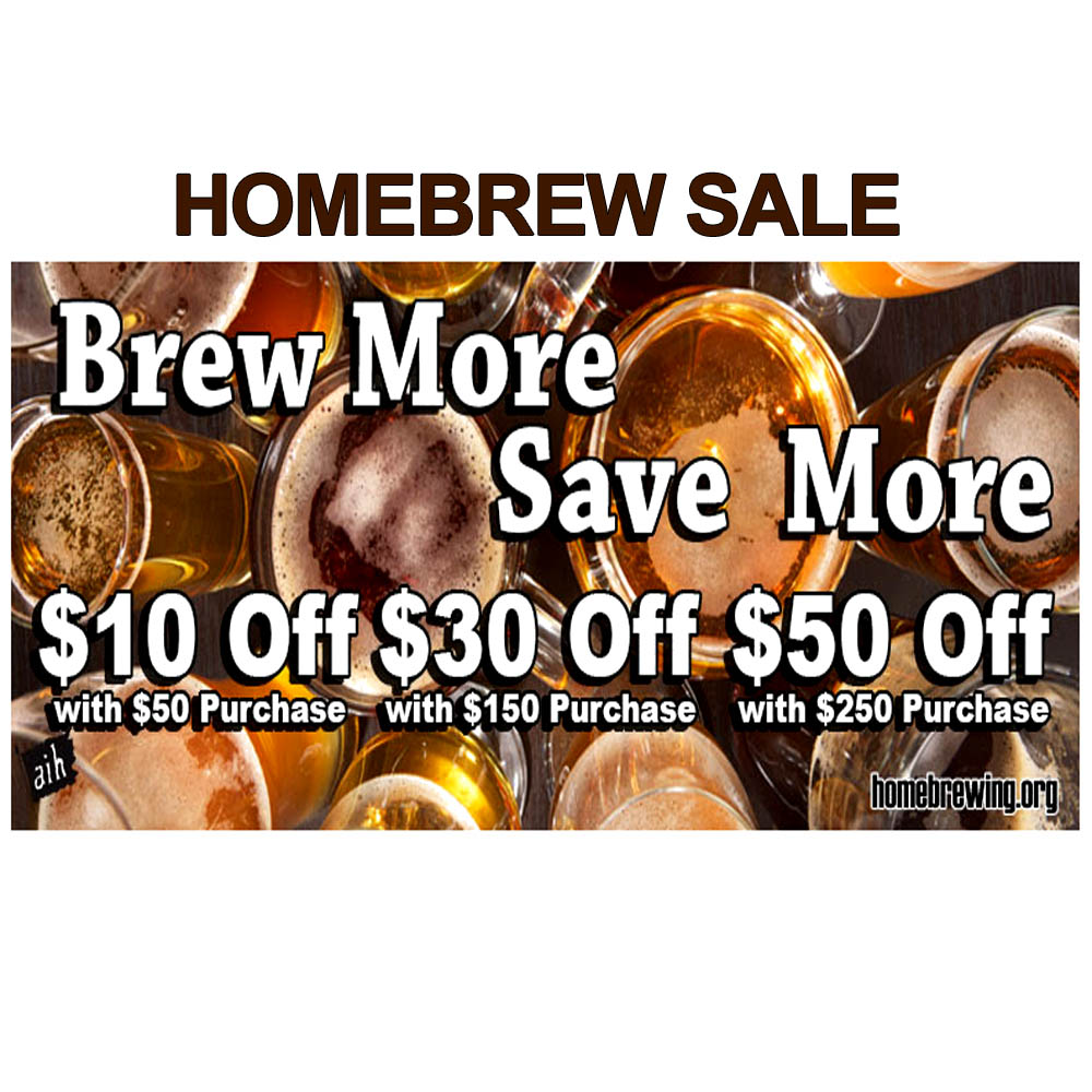 Save Up To 20% Off Your Homebrew Order Sale