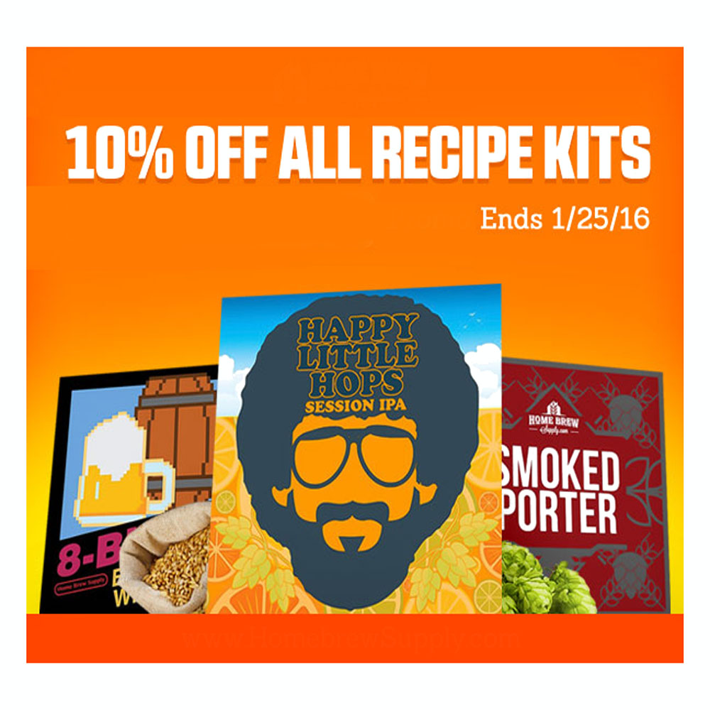 Save 10% On All Homebrew Recipe Kits Promo Codes