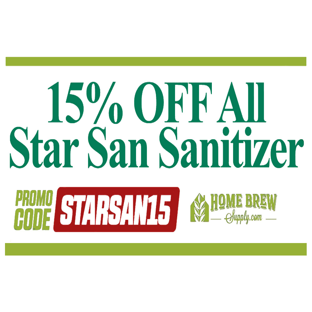 Save 15% On Star San Homebrew Sanitization Products Coupon Code