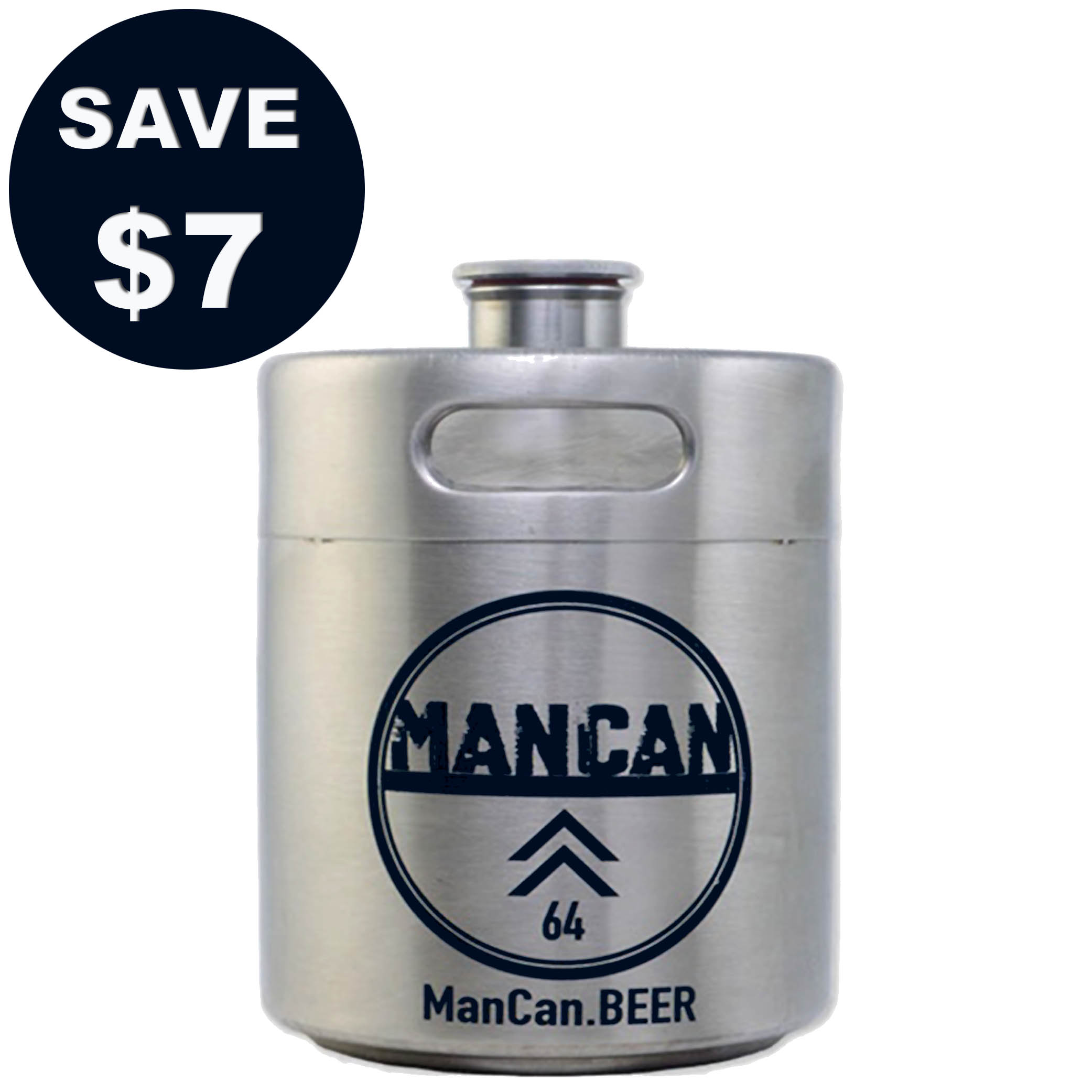 Save $7 on a Stainless Steel Mini-Keg Growler with this More Beer Coupon Coupon Code