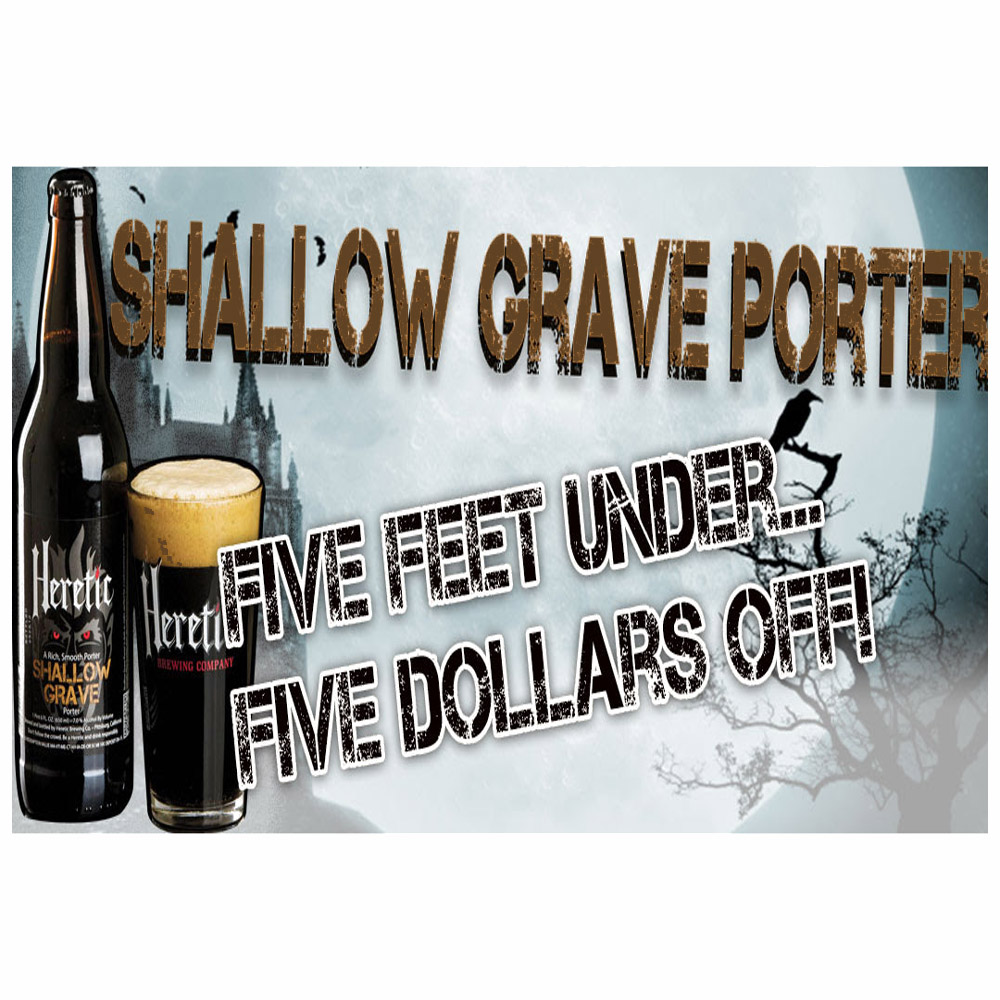 Save $5 On the Heretic Shallow Grave Porter Beer Kit at More Beer! Coupon Code