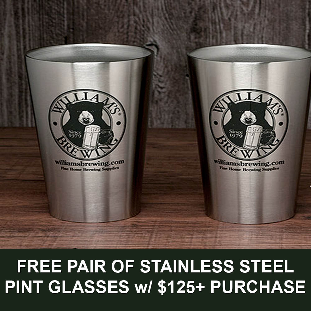 Spend $125+ and Get a Free Pair of Stainless Steel Pint Glasses Coupon Code