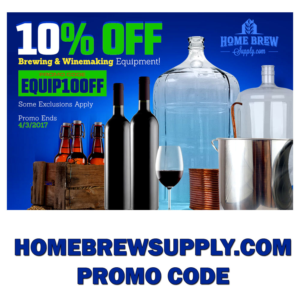 Save an Extra 10% On Home Brewing Equipment!  Coupon Code