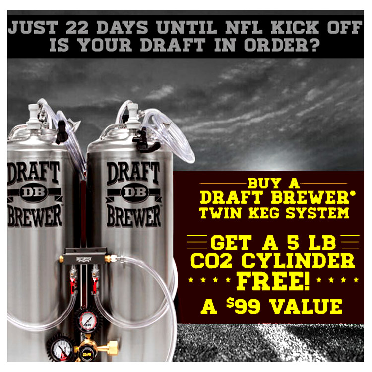 Free CO2 Tank with $300 Draft Beer System Order Coupon Code