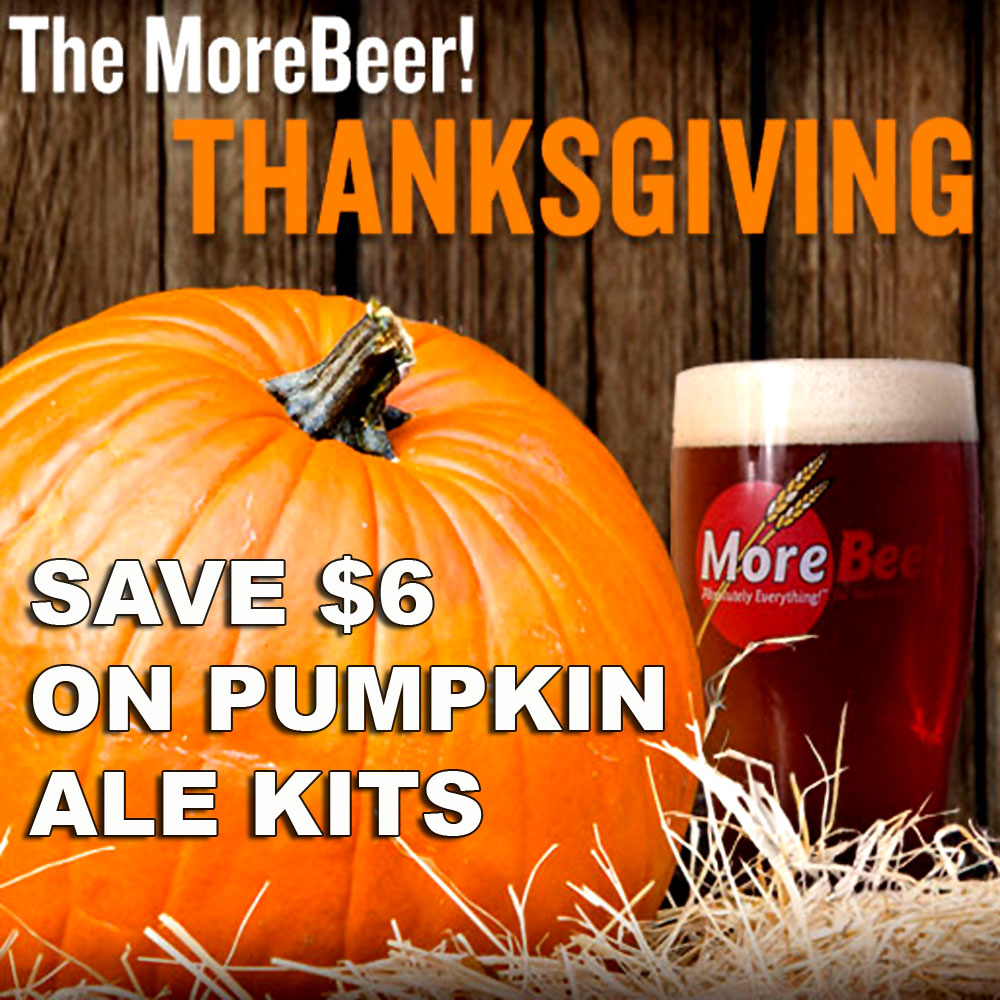 Save $6 On A Pumpkin Beer Kit at More Beer! Coupon Code