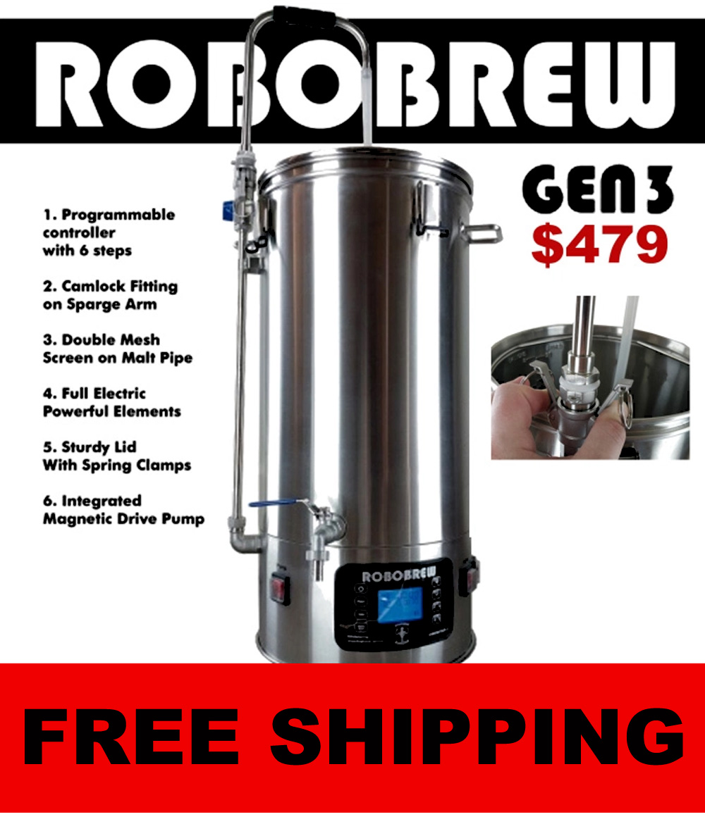 RoboBrew Electric Home Brewery Just $479 + Free Shipping Coupon Code