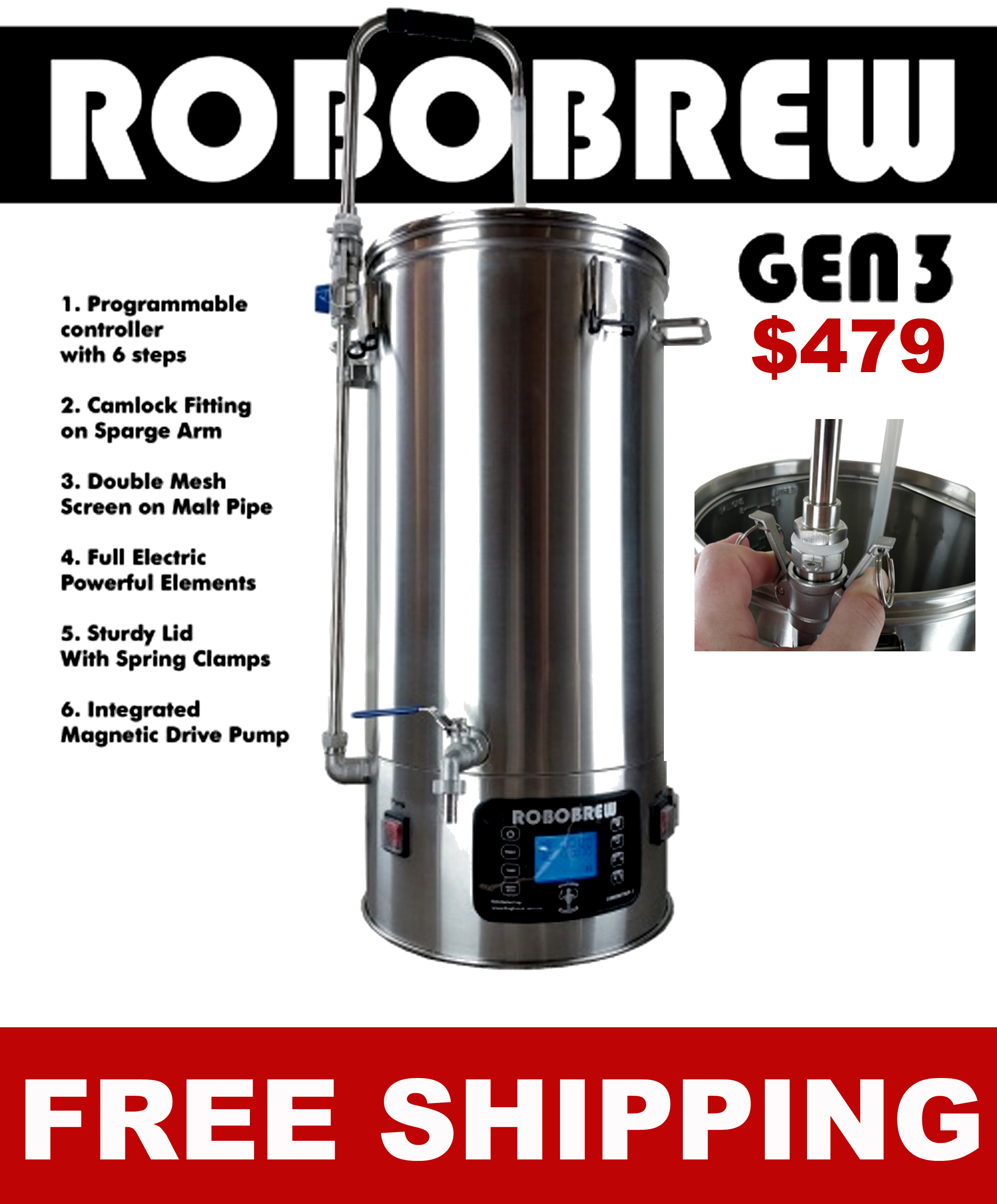 Get A NEW Generation 3 RoboBrew for Just $479 + FREE SHIPPING Coupon Code