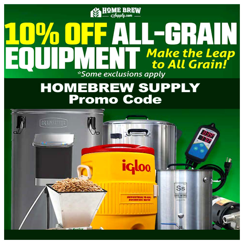Save 10% On All Grain Brewing Equipment and Supplies Coupon Code