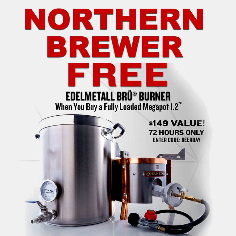 FREE burner with the purchase of a fully loaded Megapot Brew Kettle Coupon Code