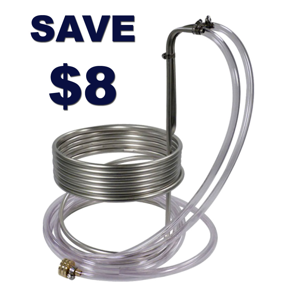 Save $8 On A Stainless Steel Home Brewing Wort Chiller Coupon Code