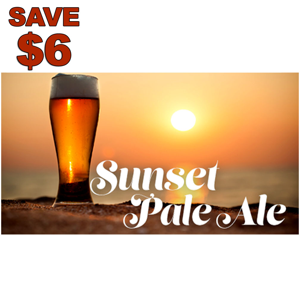 Save $6 On A Sunset Pale Ale Beer Kit with this More Beer Coupon Coupon Code