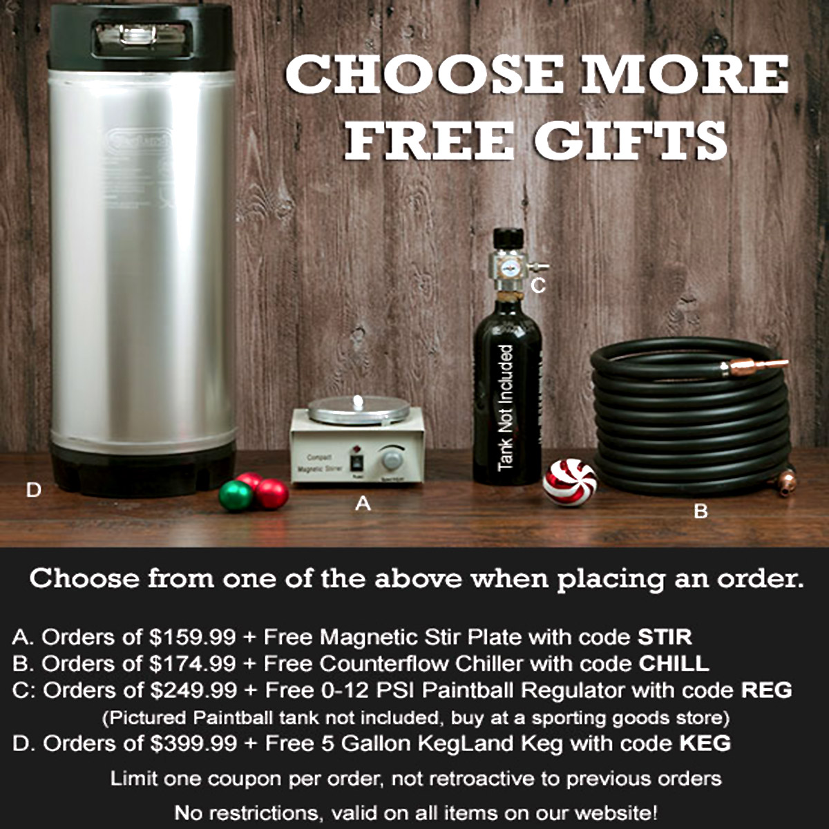 Williams Brewing Choose a free gift at Williams Brewing with this WilliamsBrewing.com Coupon Code Coupon Code