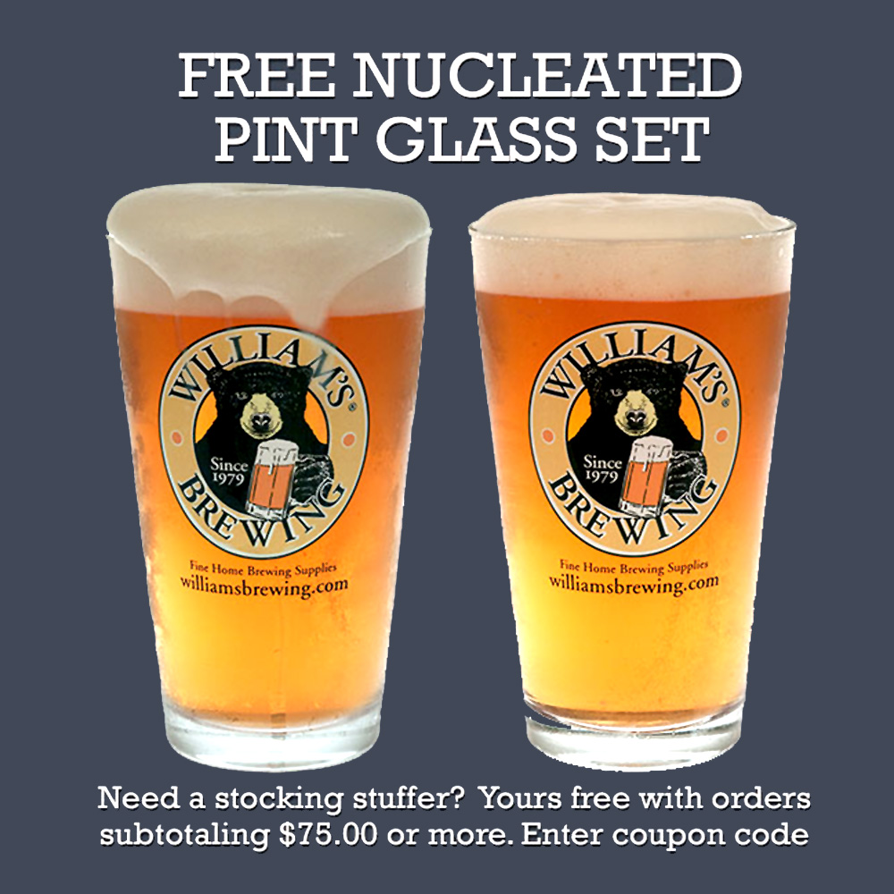 Get a Free Pair Of Pint Glasses at Williams Brewing Coupon Code