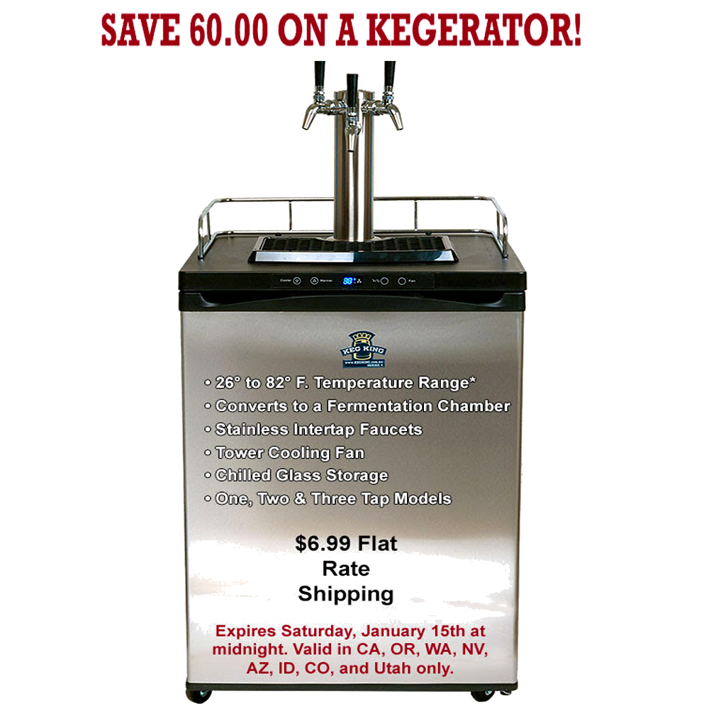 Save an Extra $60 On A KegKing Kegerator Coupon Code