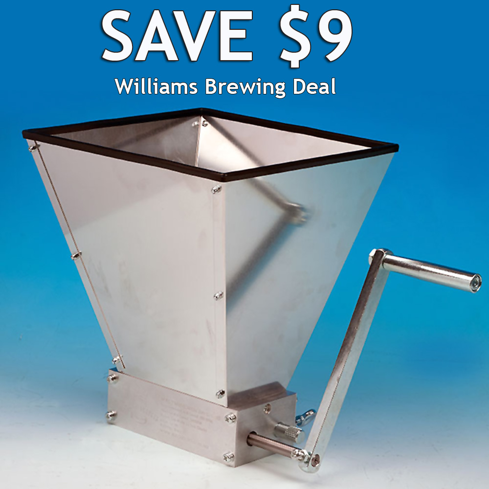 Get a Malt Muncher Home Brewing Grain Mill for Just $85 Coupon Code