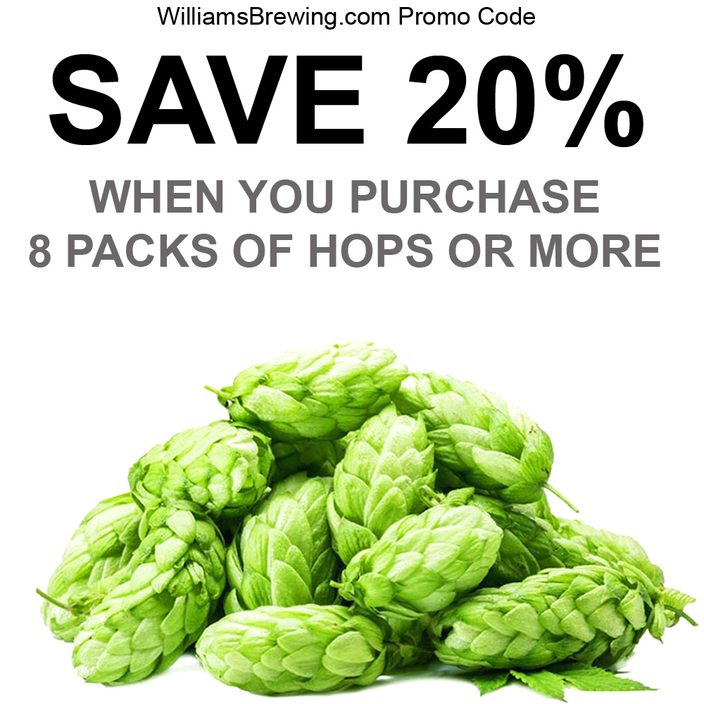 Buy 8 Packs of Hops and Save 20% Coupon Code