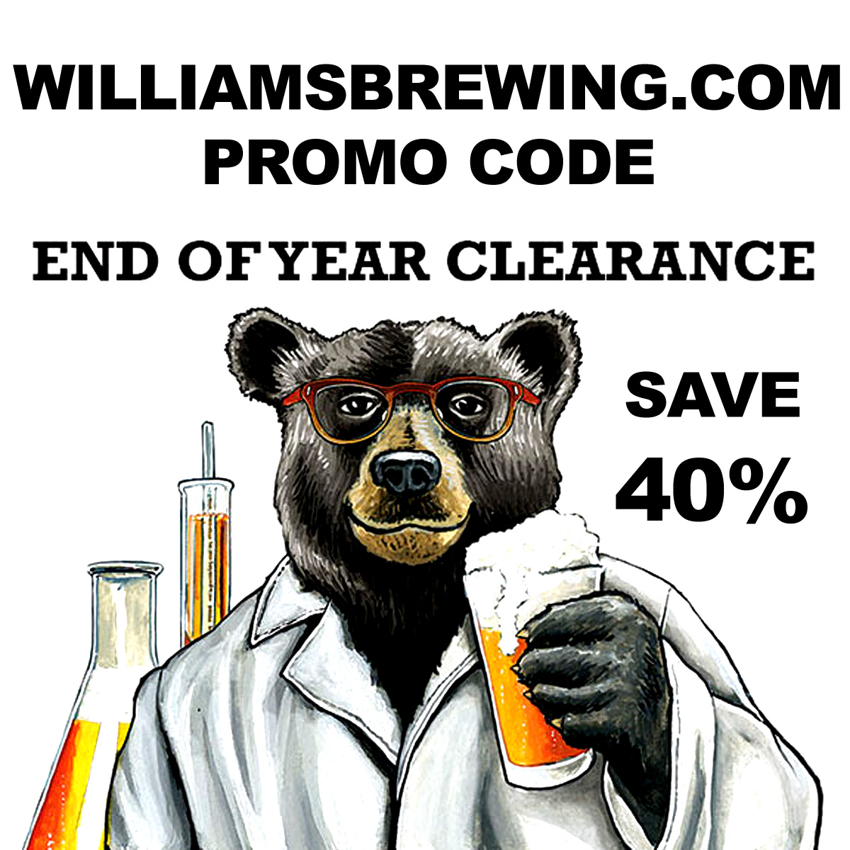 Williams Brewing Save 40% On Popular Home Brewing Items At The Williams Brewing Year End Clearance Sale Coupon Code