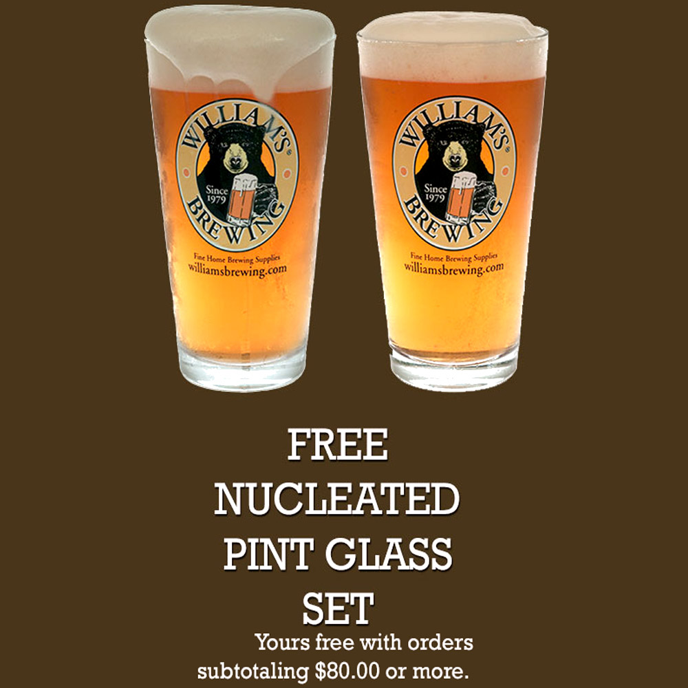 Free Nucleated Pint Glass Set with $80 Purchase Coupon Code