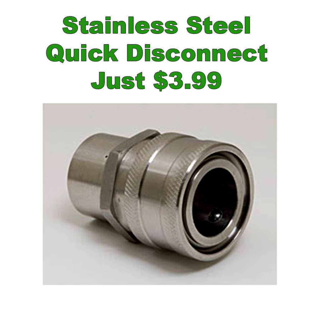 Get a Stainless Steel Female to Female Quick Disconnect for Just $3.99 Coupon Code