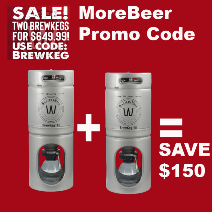 Save $150 When You Purchase 2 BrewKeg 10 Unitanks Coupon Code