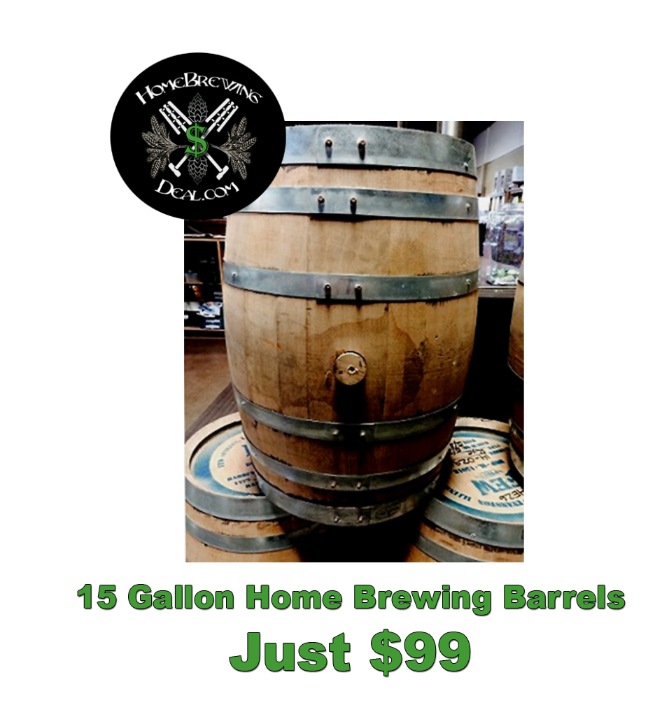 15 Gallon Home Brewing Whiskey Barrels Just $99 Sale