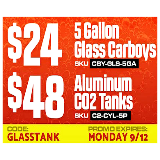 Homebrewing Carboy Sale Coupon Code Save 25% Coupon Code