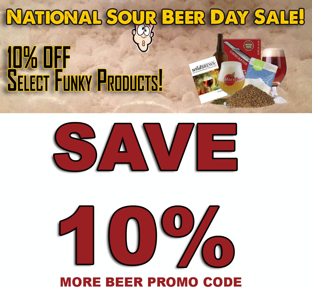 Save 10% On Sour Beer Kits at More Beer Coupon Code