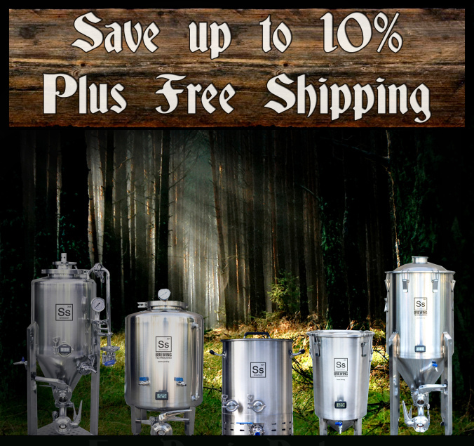 Save Up To 10% And Get Free Shipping On Ss BrewTech Fermenters and Kettles Coupon Code
